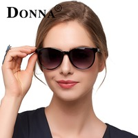 Donna Oversized Cat Eye Sunglasses Round Classic Polarized Frame Flat Sun Woman Fashion Lens Glasses D78