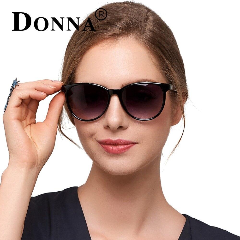 Donna de Gran Tamaño Del Ojo de Gato gafas de Sol de Marco Redondo Clásico Plana Lente Gafas de Sol Mujer Moda D78
