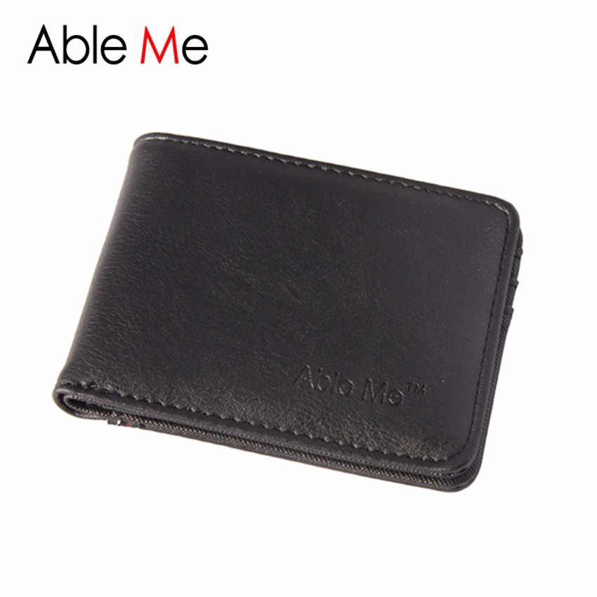 Ableme Famous Brand Men Wallet Leather Purse Travel Credit Card Holder Monederos Carteira Masculina Business Men Wallets