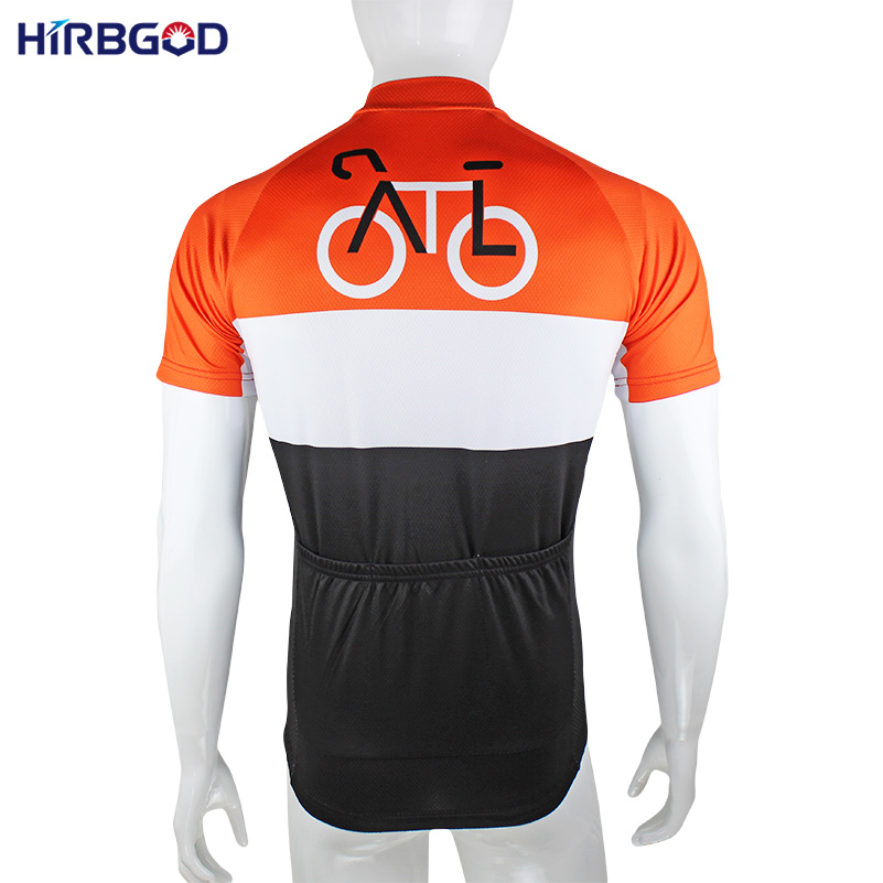 HIRBGOD Men s Cycling Jerseys 100% Polyester Bicycle Wear Short Sleeve  Mountain Bike Clothing Ropa Ciclismo HK164-in Cycling Jerseys from Sports  ... fb3ca2b8a