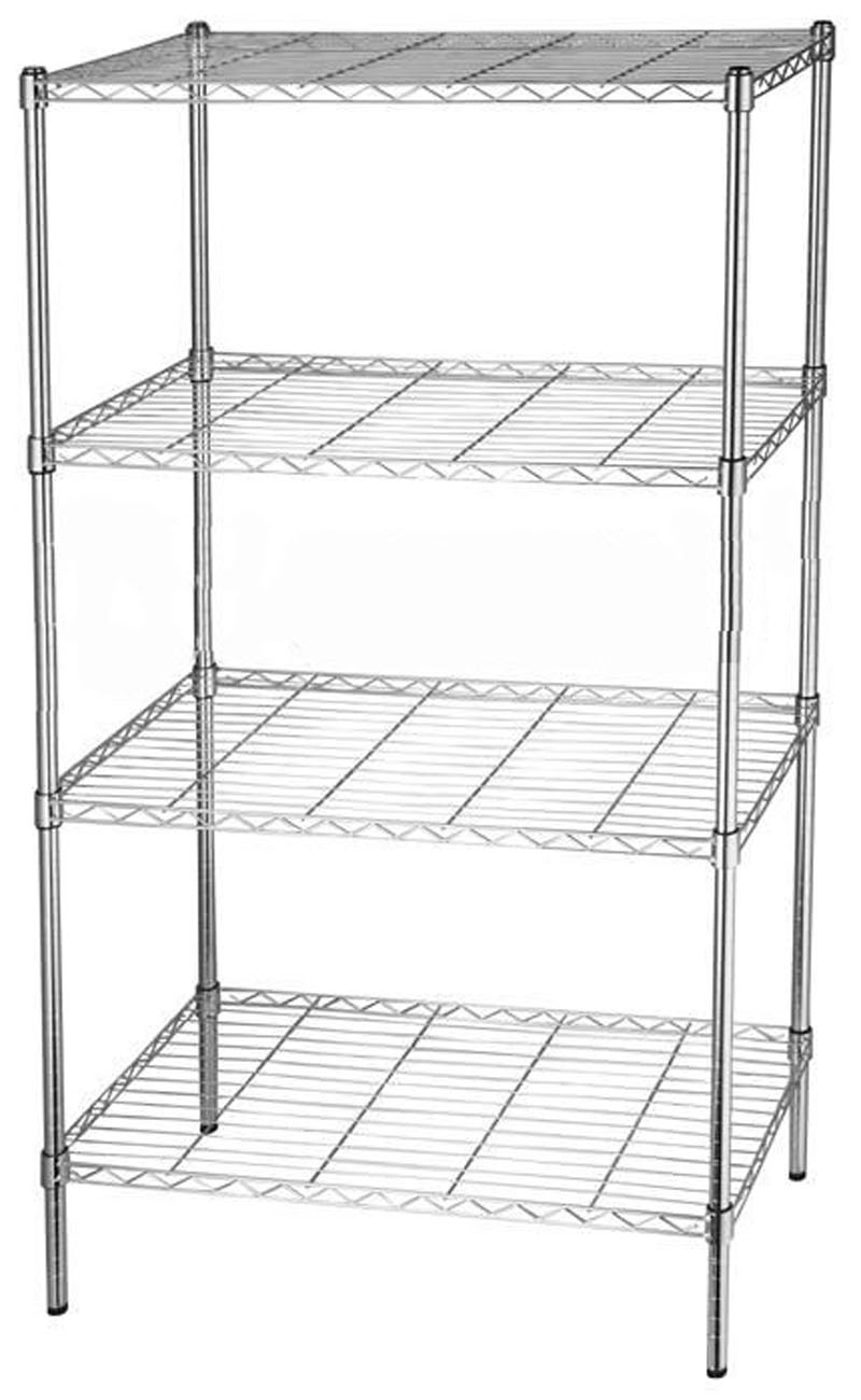 Chrome Metal Wardrobe 4 Layers Storage Rack 36x14x54