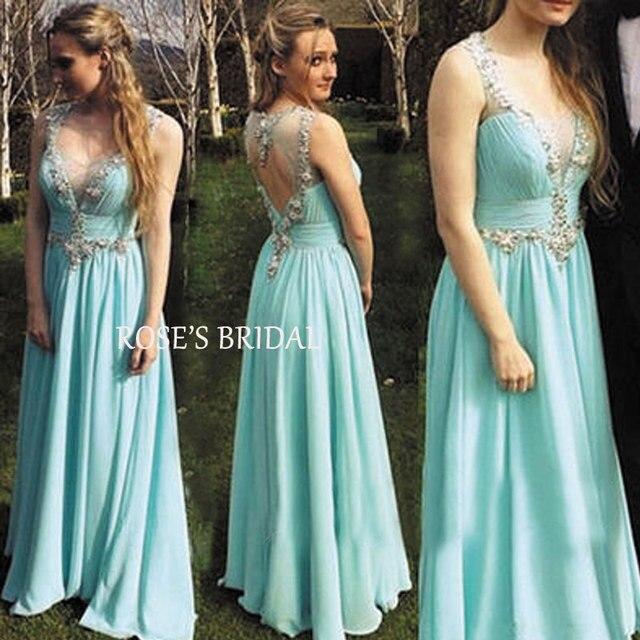 Aliexpress.com : Buy High Fashion 2016 A Line Chiffon Light Blue ...