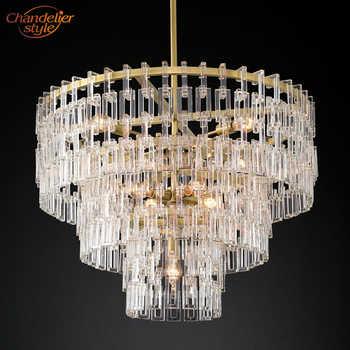 Marignan Round Chandelier Modern Crystal Chandelier Lighting Vintage Cristal Hanging Chandeliers Interior Light Fixtures
