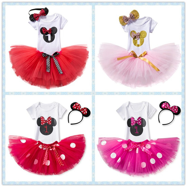 f1c1ffda0d7cf US $15.76  Baby Girl First 1st Birthday Party mini Tutu Dress for Toddlers  Vestidos Infantil Princess Clothes 1 Year Girls Baptism Outfits-in Dresses  ...