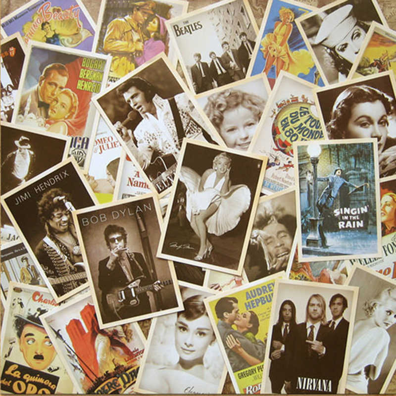 32pcs/lot Classic old Photos Style Postcards Cartoon Post Card Poster Drawing Greeting Gift Theme Vintage Collectible Card Set