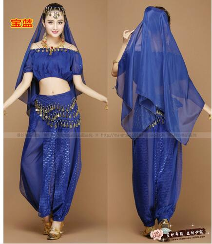 New Arrival Discount 4 Pieces 6 Colors Adult Women Cheap Prices Oriental Tribal Arabic Belly Dance Costume For Sale(China)