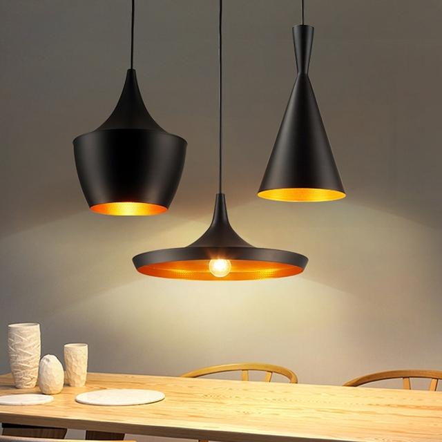 Lâmpada pingente Branco Novo ABC (, Fat e Wide Alto) Design Sombra Cobre Musical Bata Luz, 110 V/230 V Quarto Iluminação Sala de estar