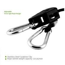 Регулируемая практичная 1/8 фунтов дюймовая нейлоновый Канат трещотка yoyo вешалки легкие вешалки отражатель подъемник для Led светильник для выращивания палатки
