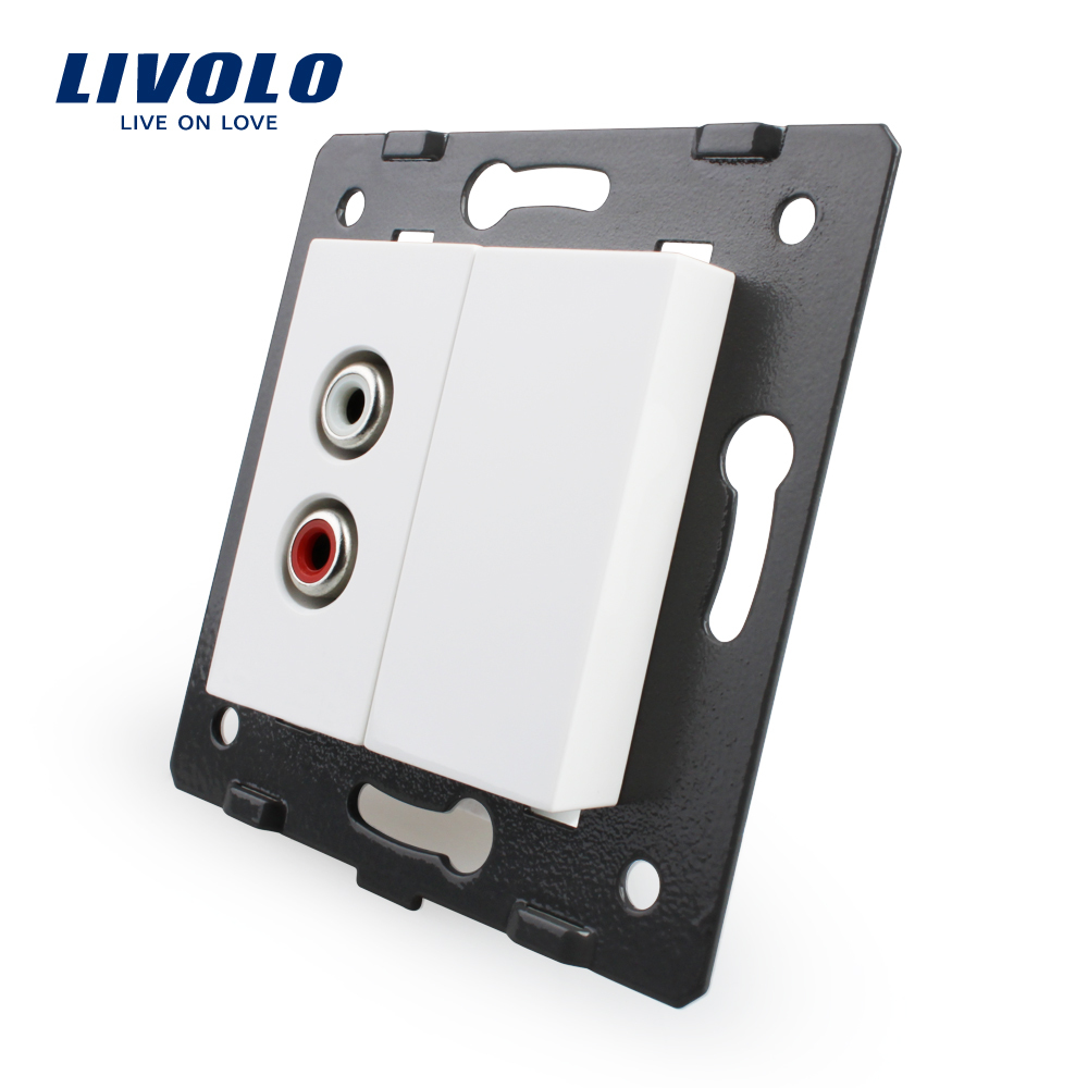 Free Shipping, Livolo White Plastic Materials, EU Standard, Function Key For Audio Socket,VL-C7-1AD-11 welaik free shipping white plastic materials diy accessory function key for phone and usb socket eu standard a8tpus