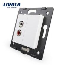 Бесплатная доставка, Livolo Белый Пластик материалы, ЕС Стандартный, Функция ключ для аудио разъем, vl-c7-1ad-11