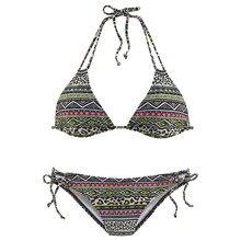 LIVA GIRL Fashion Sexy Women's Print Beach Swimsuit Two-piece Bikini Set Push-up Bra Low-cut Strap backless Swimwear Girl