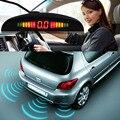 1 компл. автомобиль LED парковки обратный системы резервирования радар монитор подсветкой дисплея 4 датчики.бесплатная доставка