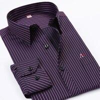 Dudalina Fashion Men S Shirts Brand Clothing Long Sleeve Vertical Stripes Business Work Dress 2017 Spring