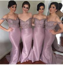 2016 Sexy Appliques Beads Bridesmaid Dresses V Neck Mermaid Floor-Length De Casamento Robe Demoiselle D'honneur Bridesmaid Dress