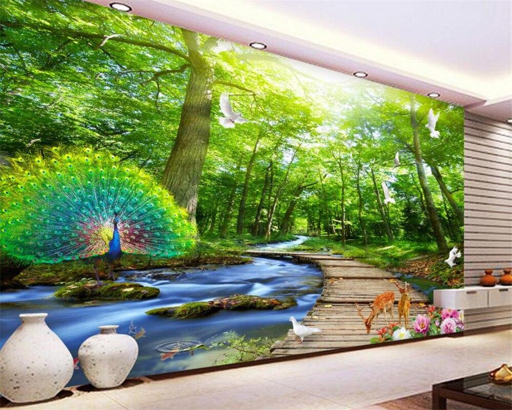 Toko Online Beibehang Kustom Wallpaper Pohon Landscape Pemandangan