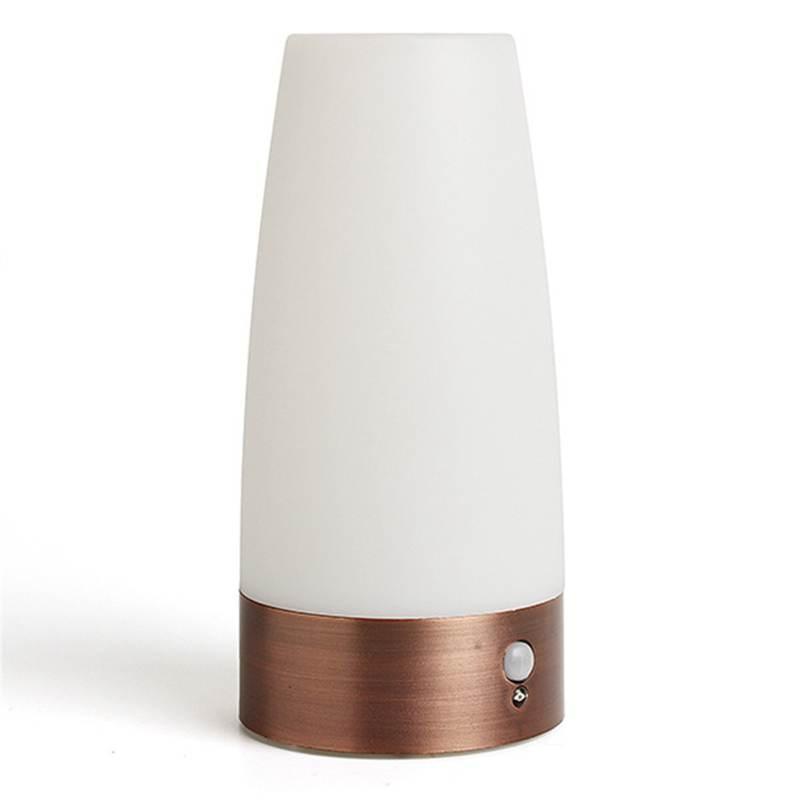 Wireless Motion Sensor Retro LED Table Light LED Table Lamps For Bedroom Battery Powered Night Light