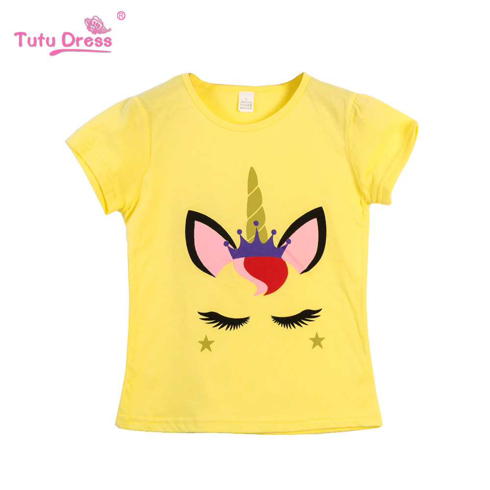 Baby Girls Clothes T-shirt Cotton Short-Sleeved Casual T shirts for Kids Children's T-Shirts 2-12 Years Children Clothing raglan sleeved gym t shirts in blue