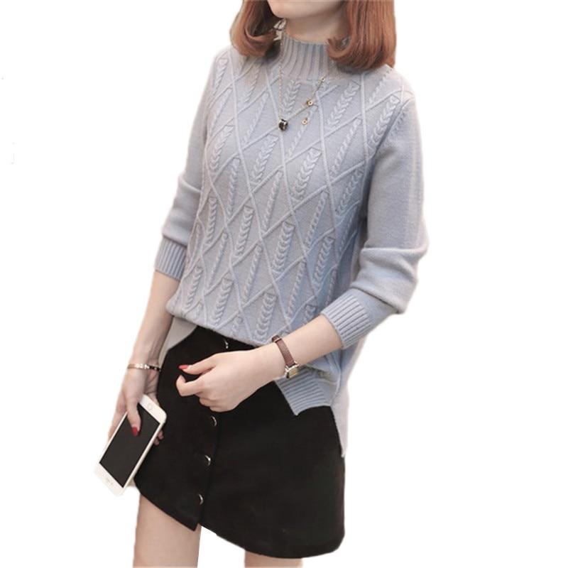 turtleneck Sweater Female 2019 Spring Autumn New Korean Fashion Elegant Twist Warm Pullover Winter Women Knit Sweater Pullover N