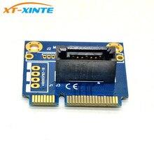 "MSATA ไปยัง SATA CONVERTER CARD MINI SATA 7Pin SATA PCI E อะแดปเตอร์ครึ่งขนาด 2.5 ""3.5"" HDD SSD"