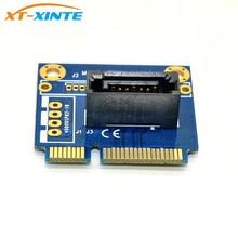 """MSATA إلى SATA بطاقة تحويل Mini SATA إلى 7Pin SATA PCI e تمديد محول نصف حجم لـ 2.5 """"3.5"""" HDD وسيط تخزين ذو حالة ثابتة/ القرص الصلب"""