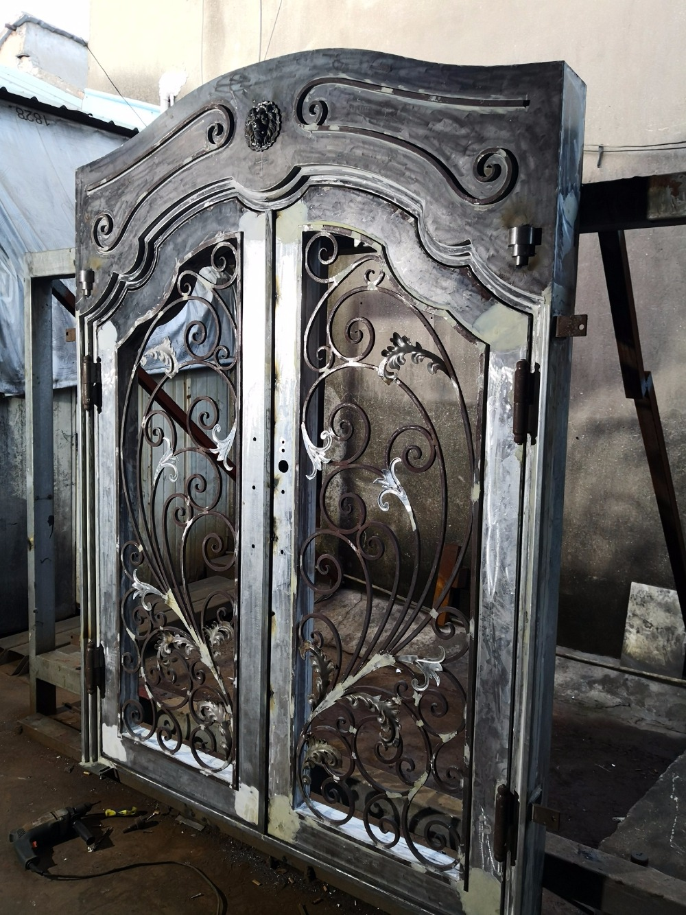 Iron Security Gates For Doors Wrought Iron Door Trim