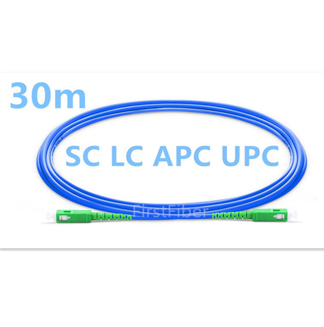 30 m SC/LC APC/UPC Fiber Gepantserde Patch Kabel optische Patch cord, anti rat bite, jumper Simplex Single Mode