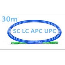 Corde de correction optique blindée de câble de correction de Fiber de SC/LC APC/UPC de 30 m, morsure danti rat, Mode simple recto de cavalier