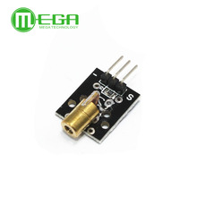 50PCS KY 008 650nm Laser sensor Modul 6mm 5V 5mW Rot Laser Dot Diode Kupfer Kopf für arduino