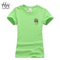 HanHent Women Tee Shirt Zebra Bar Code Design Tshirts Stripe Summer Cotton Short Sleeve Fashion Casual