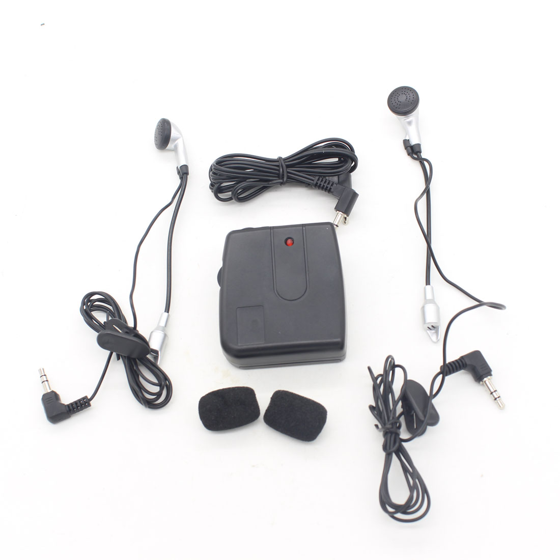 Dongzhen Compact Motorcycle Wired Talkie Portable Headset Intercom Motorcycle Headphone Interphone for Driver Rider