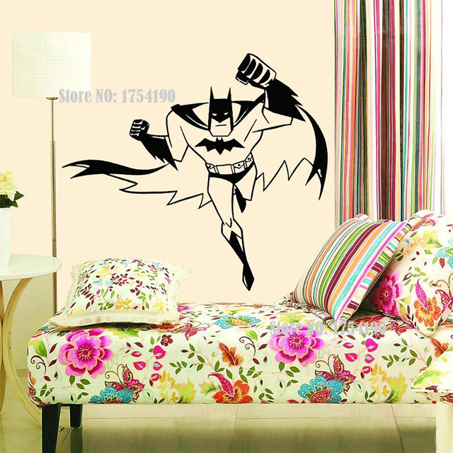 Batman Superhero Vinyl Wall Art Sticker Poster Wallpaper Childrens