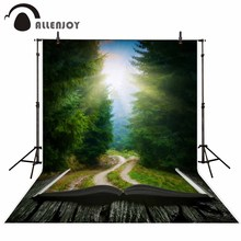 Allenjoy background for photo shoots wonderland book fairy tale mysterious forest trees sunshine backdrop for studio photocall