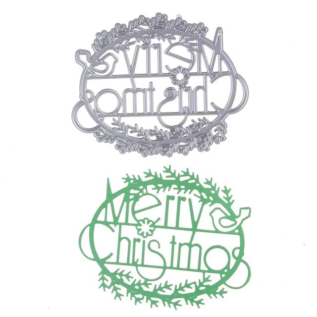 merry christmas border metal dies cutting album decoration scrapbooking craft dies cuts diy stamps embossing paper - Merry Christmas Border