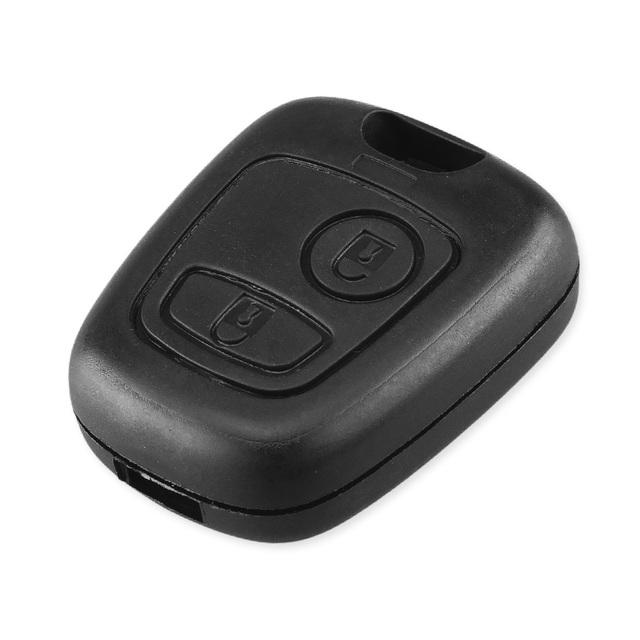 KEYYOU No Blade 2 Button Remote Car Key Case Shell Fob For Citroen C1 C2 C3 C4 XSARA Picasso Cover with logo