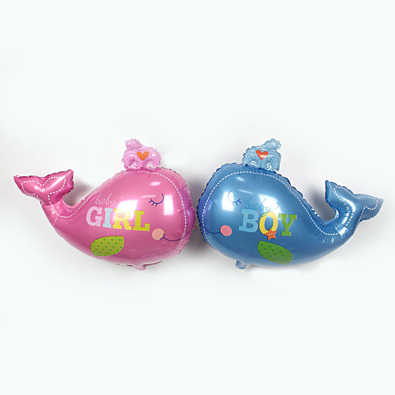 Large size birthday balloons whale Foil Balloons classic toys inflatable helium