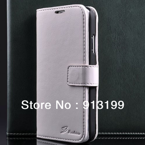 Free Shipping 1pcs Leather Stand Leather Wallet Pouch Stand Case Cover for Samsung Galaxy SIV S4 I9500 With Card Holder 6 Color