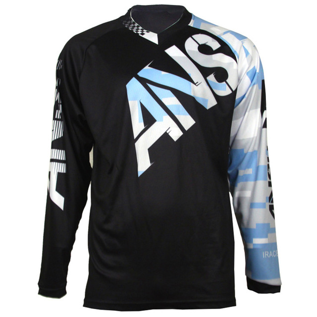 2018 New Cycling Jersey Downhill Mountain Bike Riding Racing Cross-country long T-shirt Quick-drying MTB DH Mountain Bike Jersey