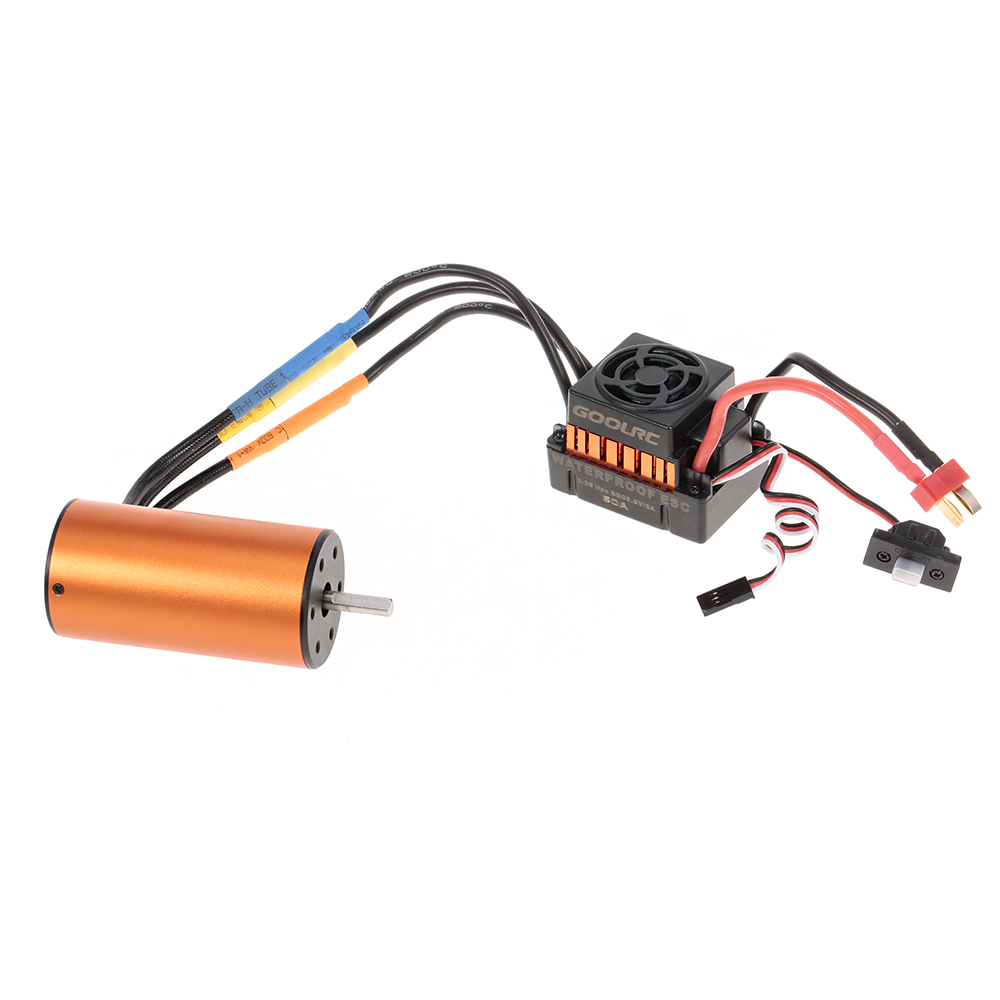 GoolRC Brushless Motor BL3670 1900KV ESC 2-3S 60A Waterproof for 1/10 RC Car Off-road Truck HSP TRAXXAS Vehicle цена