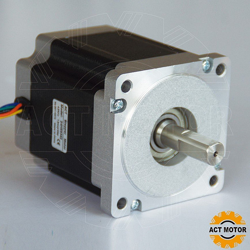 ACT Motor 1PC Nema34 Stepper Motor 34HS9456 1090oz-in 99mm 5.6A 4-Lead 2Phase CE ISO ROHS Plasma Engraver Plastic Medical shipping from china act motor 1pc nema34 brake motor 34hs5460d14l34j5 s8 1140oz in 150mm 6a 4 lead 2phase engraving machine
