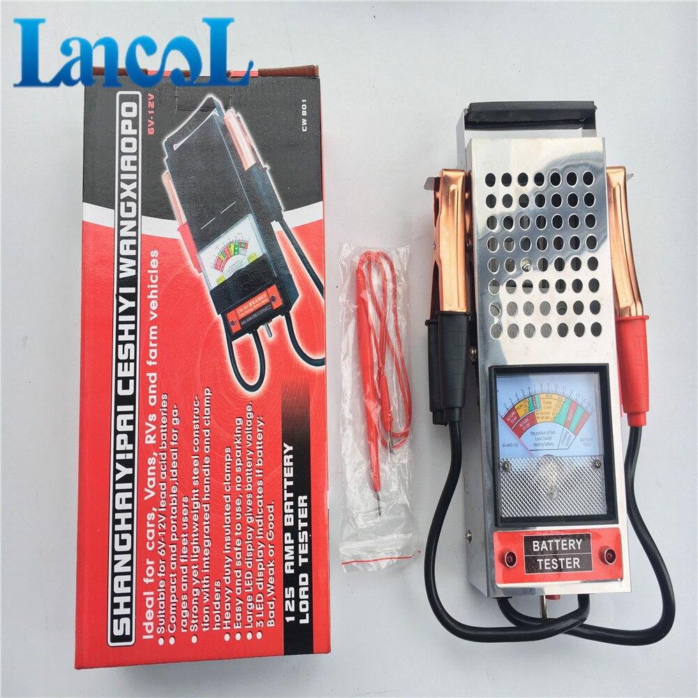 Prix pour Automobile Testeur de Batterie Charge 125 Amp Charge Type 6 V/12 V Voiture Camion Batterie Analyseur
