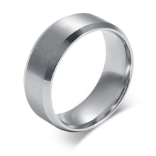 Beichong Fashion 3 color Stainless Steel  High Polish Simple Men Women Ring for Gift