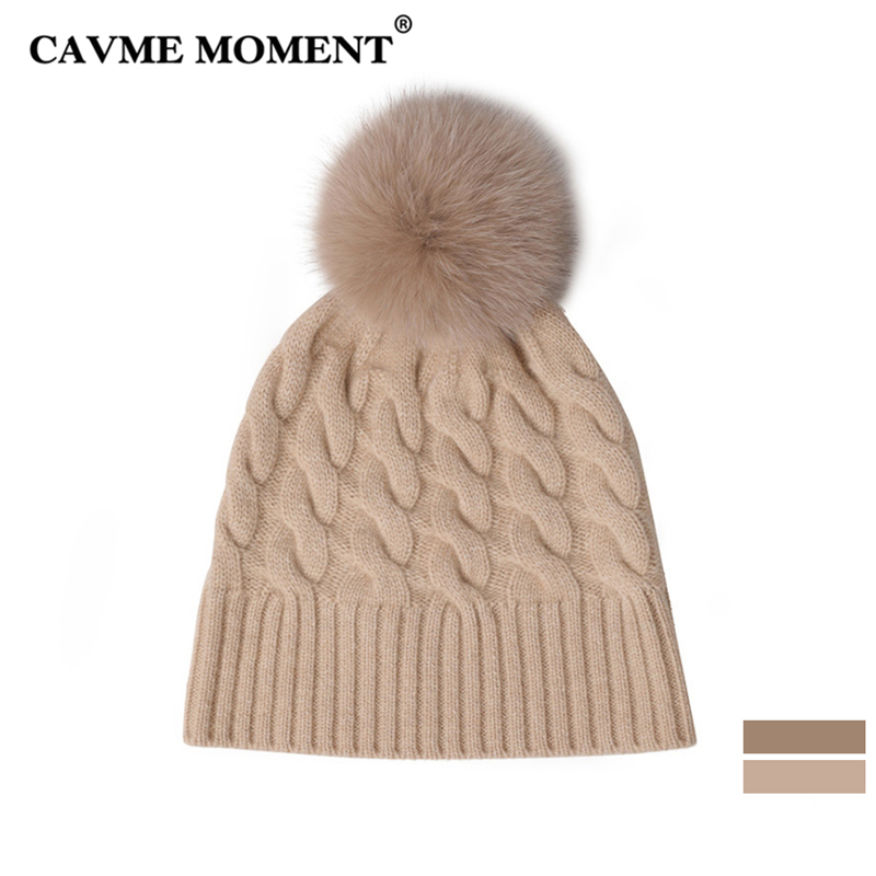 CAVME Winter Cashmere Knitting Pompon   Skullies     Beanies   Caps Hats for Women Men Ladies Femme Homme Casual Hats Solid Color