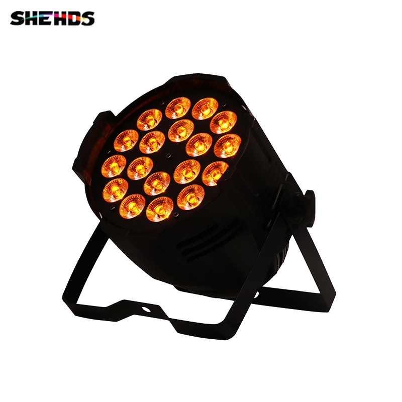 10pcs/lot Aluminum Alloy New LED Par 18x18W 6in1 RGBWA+UV Light DMX Stage Lights Can for Party KTV Disco DJ Business Lights free shipping aluminum alloy led par12x18w rgbwa uv and mixed color light wash light for dj disco ktv and party shehds