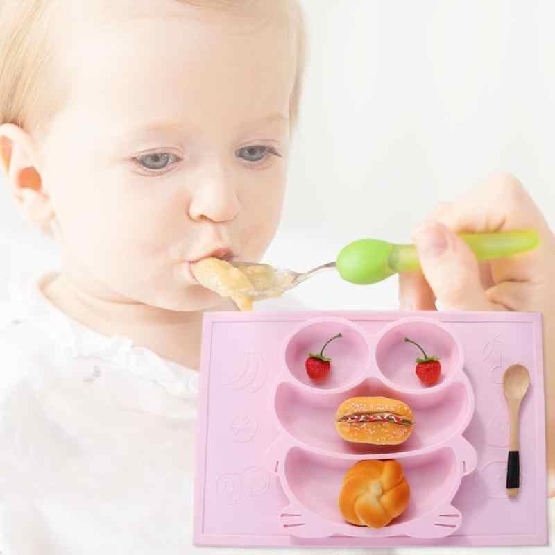 Criativo de uma peça de jantar criança placa criança desenhos animados adsorção talheres tigela
