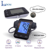 Loodom Home Care Digital Arm Blood Pressure Monitor Sphygmomanometer Upper Cuff Heart Beat Meter