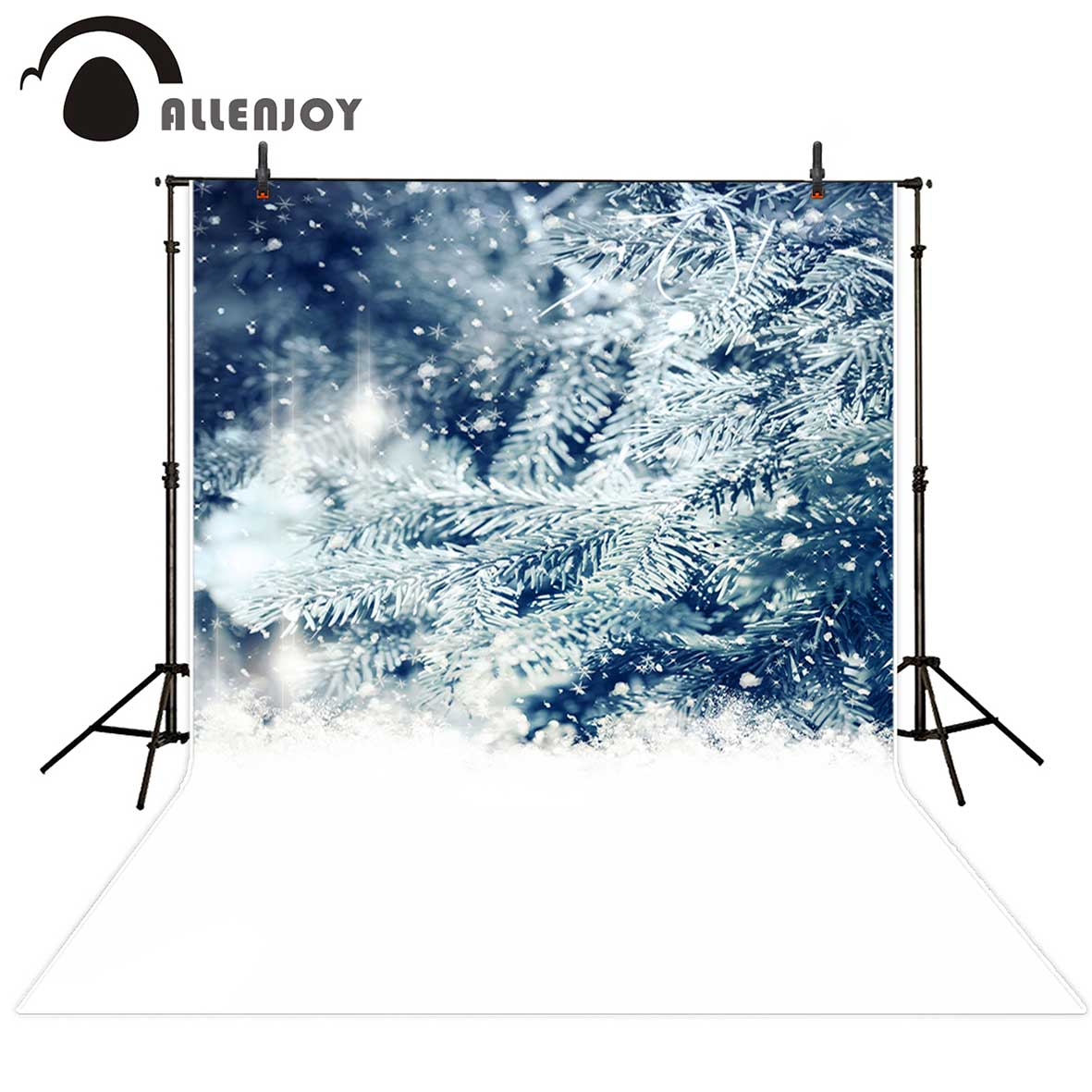 Allenjoy photography Pine snow winter white snowflakes Backgrounds for photographing Photo background Photo studio funds цена