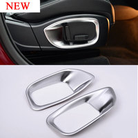 2pcs ABS Matte Chrome Interior Accessory Car Seat Adjustment CoverTrim For Jaguar XE/F-Pace/XFL/XF X761 2016-2017 Car Styling
