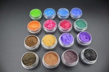 лучшая цена 16 Colors Natural Cosmetic Mica Pigment Pearl Powders loose Eyeshadow Safe To Use For Nail,Lipstick,Makeup,Eyeshadow,Soap,FPB16