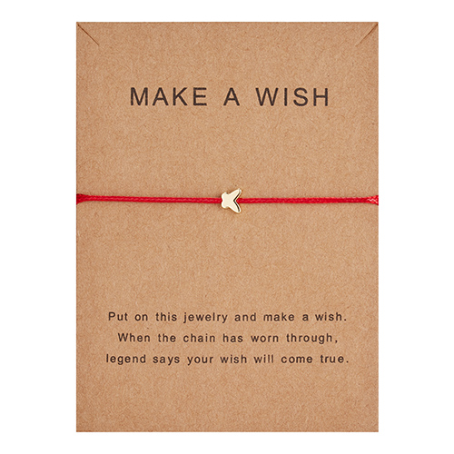 Регулируемый браслет с бумажными карточками в форме бабочки, звезды, короны, Круглый тканый браслет ручной работы, Простые Модные женские ювелирные изделия, подарки - Окраска металла: 2