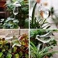 観葉植物自動自己散水ガラス鳥散水缶の花植物装飾クリアガラス散水装置 12 形状